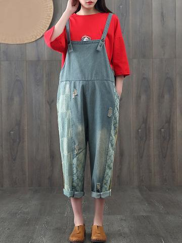 Dungaree with a Red Top