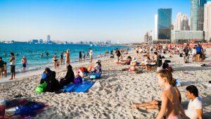 Dubai beach shows off a variety of cultures