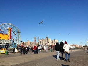 Coney Island beach and Fun Park.