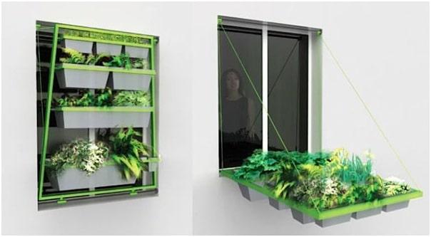 Retracting Window Garden